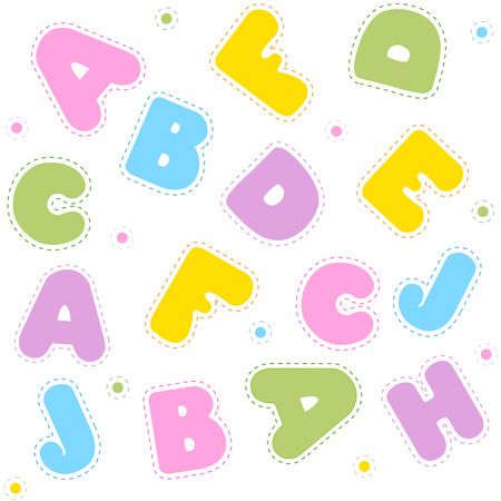 backgrouns: Alphabet letters seamless pattern for education, literacy, back to school announcements, posters, fliers, stationery, scrapbooks, albums. Illustration