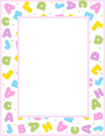 school frame: Alphabet frame for education, literacy, back to school announcements, posters, fliers, stationery, scrapbooks, albums.