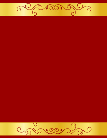 wedding photo frame: Gold and red ornamental border  frame specially for wedding  party invitation cards