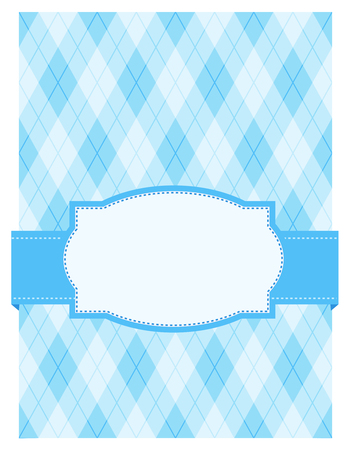 specially: Blue argyle  harlequin background with frame. specially for baby boy themed designs