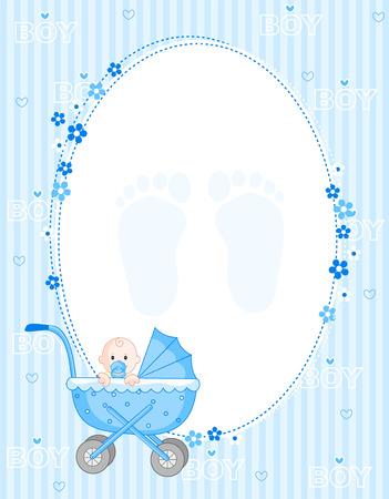 Baby boy aankomst kaart  uitnodiging van de