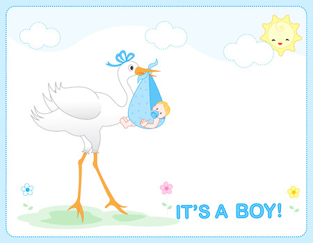 Its a  boy baby boy arrival announcement card  frame