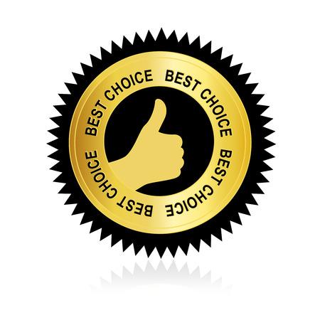 best service: Best choice sticker  label isolate on white background Illustration