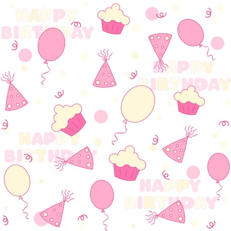 birth day: Birthday web background  seamless pattern with colorful birth day themed graphics