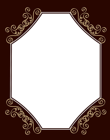 wedding decoration: Black and brown ornamental border  frame specially for wedding  party invitation cards