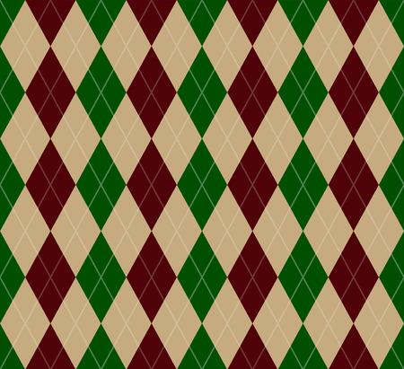 argyle: Seamless Christmas Argyle pattern dark green and red