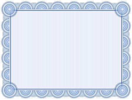 marcos decorativos: Marco Certificado en blanco aislado en blanco Vectores