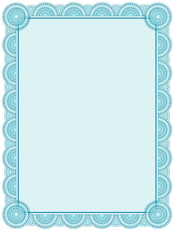 stripped: Blank printable certificate frame  template Illustration