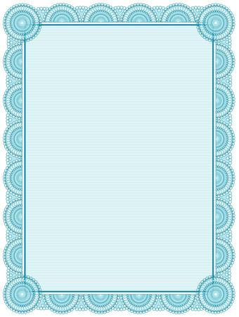 printable: Blank printable certificate frame  template Illustration