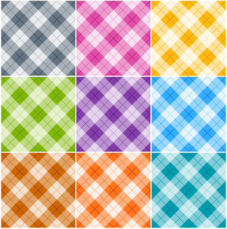 white napkin: Seamless argyle patterns  textures in different colors for Thanksgiving, home decorating, napkins, tablecloths, picnics. arts, crafts and scrap books.