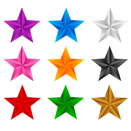 x rated: Colorful stars clip art isolated on white background
