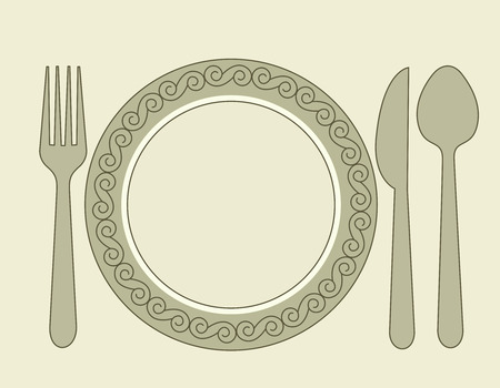 Dinner invitation card background with spoon knife and fork dinner invitation card background with spoon knife and fork vector stopboris Image collections