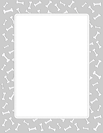 petshop: Dog bones texture frame with epty white space on center