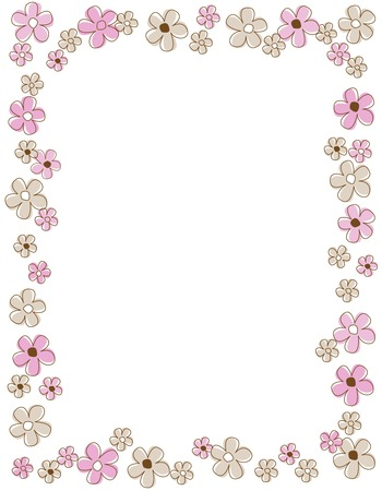 Colorful spring flowers border with pink and brown flowers royalty colorful spring flowers border with pink and brown flowers stock vector 38624630 mightylinksfo