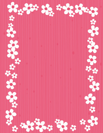 jasmin: Beautiful jasmin floral frame  background with white jasmines on pink striped background