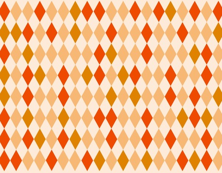 chequered ribbon: Seamless retro argyle pattern in red and orange