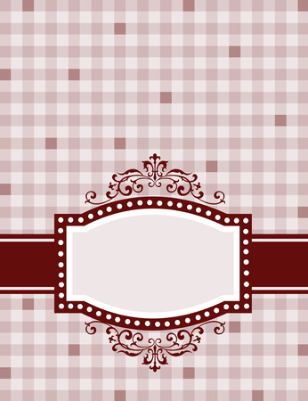 specially: Brown gingham  squares background with frame. specially for baby themed  mothers day or any occasion greeting cards Illustration