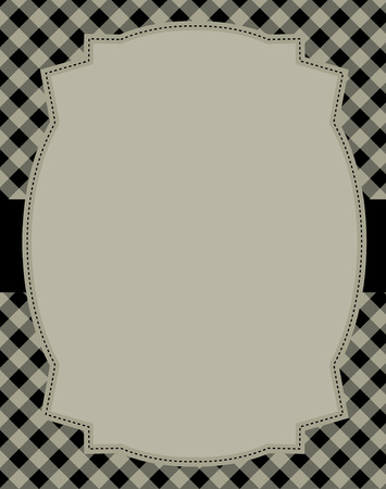 specially: Black gingham  squares background with frame. & ribbon specially occasion greeting cards & invitations