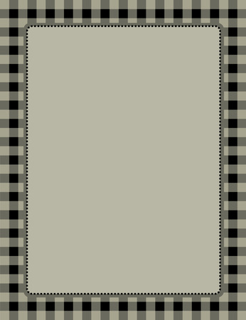 gingham pattern: Black gingham  squares background with frame. specially occasion greeting cards & invitations