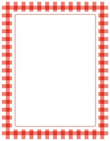 cuadrados: Guinga roja Frontera  marco con el espacio blanco vacío Vectores