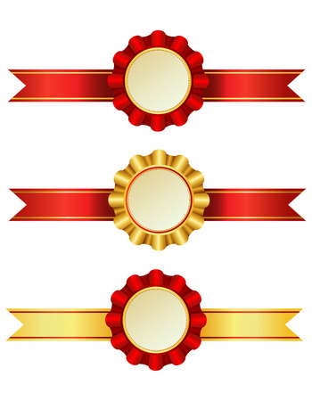 rosettes: A set of award ribbons with rosettes.