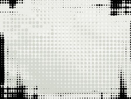 gray dot: Abstract grunge background with gray and black halftone dots.
