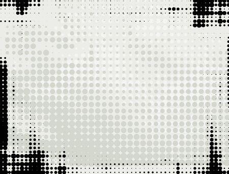 Résumé de fond de grunge avec des points gris et noir en demi-teinte. Vecteurs