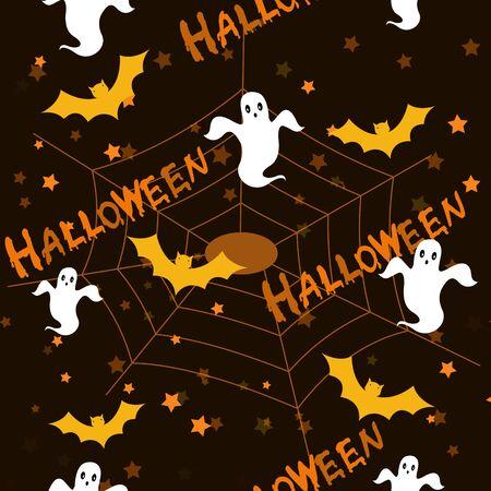 web2: Halloween dark seamless pattern