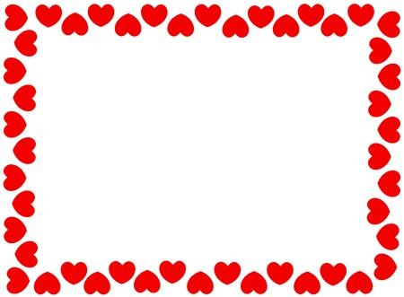 Rode harten frame met witte lege ruimte op center