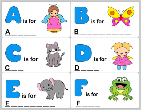 blanks: Kids words learning game  worksheets with simple colorful graphics and fill the blanks words.