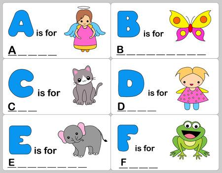 remplir: mots Enfants apprentissage jeu  feuilles de calcul avec graphiques simples et color�s et remplir les mots flans.