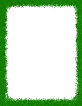 grass border: Green grass border  frame