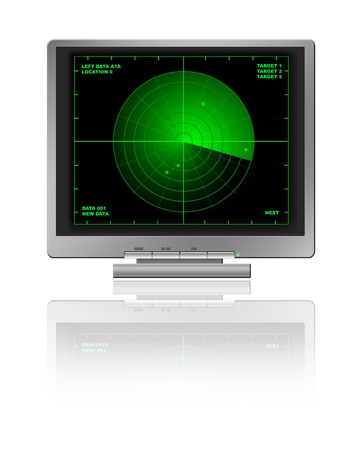 lcd: LCD monitor with radar diagram Stock Photo