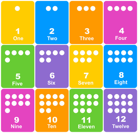 preschool children: Printable number learning cards for preschool, kindergarten kids