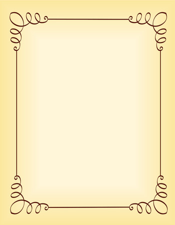Unique ornamental border / frame for party invitation backgrounds