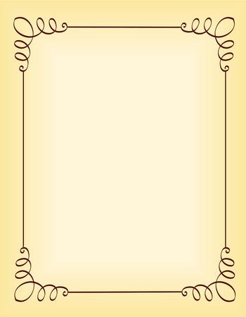 ornamental borders: Unique ornamental border  frame for party invitation backgrounds