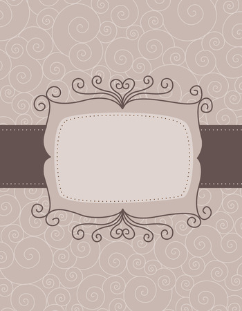 specially: Elegant swirl background  frame specially for valentines day  wedding related designs