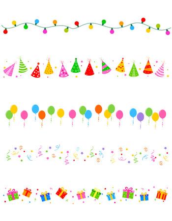 誕生日やパーティーの要素分割フレーム コレクション