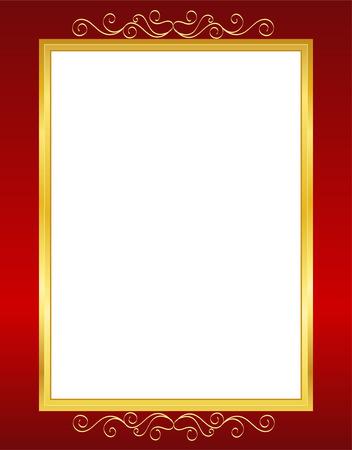 Elegante huwelijksuitnodiging  verjaardag achtergrond  frame ontwerp met wervelingen. kan gebruik zijn als huwelijk, verjaardag, Valentijnsdag, uitnodiging moederdag partij  kaarten zijn. Stock Illustratie