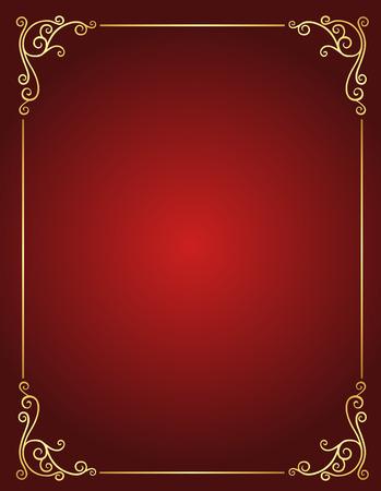 エレガントなゴールドと赤空空の背景の色のマルーンします。スタイリッシュな結婚式の招待状として完璧と他のパーティーの招待状やお知らせ