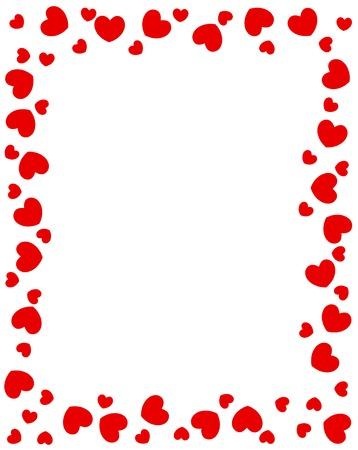 발렌타인 데이 설계를위한 빨간 하트 테두리 스톡 콘텐츠 - 38907966