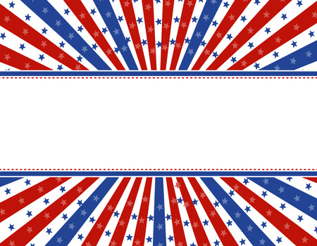 Retro stars and stripes 4th of july design with empty space to add your text Vector