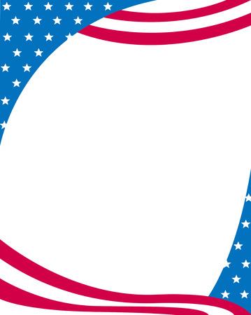 중간에 빈 공백 7 월 별과 줄무늬 프레임 디자인의 미국 4 스톡 콘텐츠 - 38908072