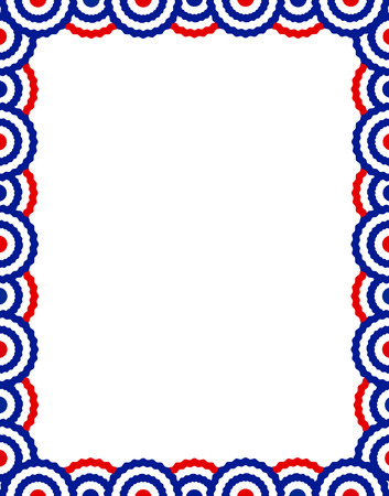 Blue and red USA patriotic buntings page border / frame design collection