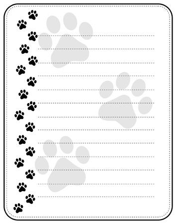 Colorful Dog Paw Print Frame / Border On White Background Royalty ...