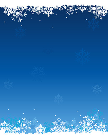 Snow winter background with falling white snowflakes