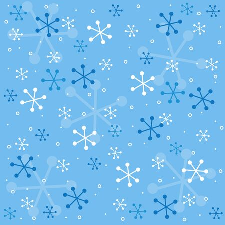 specially: Beautiful blue and white falling snow seamless pattern specially for christmas and winter themed web sites and designs Illustration