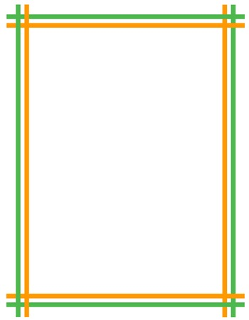 17th of march: St. Patricks Day Background  Border with green and orange ribbons
