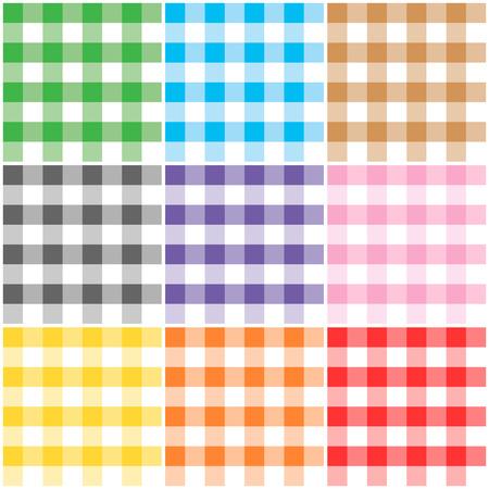 不同颜色的格子图案/纹理用于感恩节,家庭装饰,餐巾,桌布,野餐。艺术品、工艺品和剪贴簿。