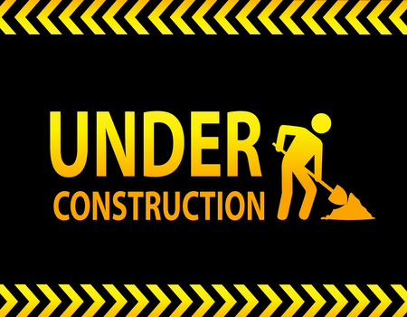under construction sign: Under construction landing page